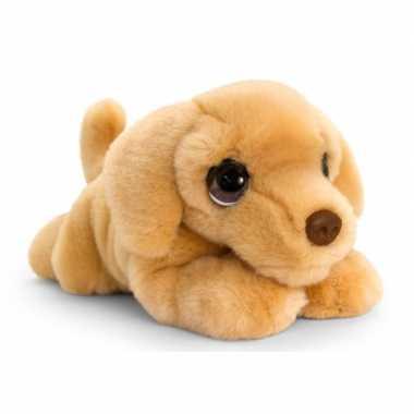 Keel toys pluche bruine labrador honden knuffel 37 cm