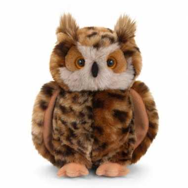 Keel toys pluche bruine oehoe uil knuffel 28 cm