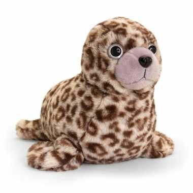 Keel toys pluche bruine zeehond knuffel 35 cm