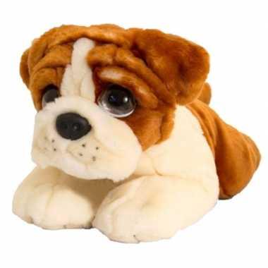 Keel toys pluche bulldog honden knuffel 47 cm