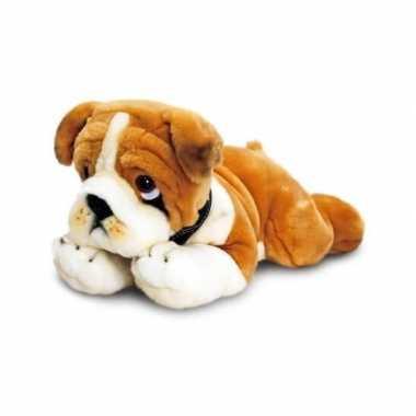Keel toys pluche bulldog knuffel 35 cm