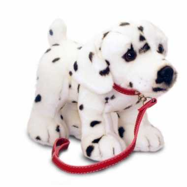 Keel toys pluche dalmatier knuffel aan lijn 25 cm