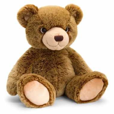 Keel toys pluche donkerbruine beren knuffel 35 cm