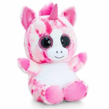 Keel toys pluche eenhoorn knuffel roze 25 cm