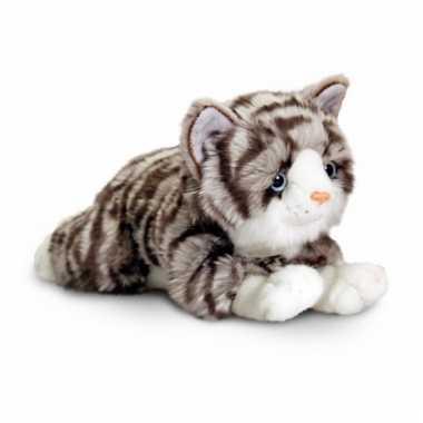 Wonderbaar Keel toys pluche grijze kat/poes knuffel 35 cm | Knuffel.info AU-23