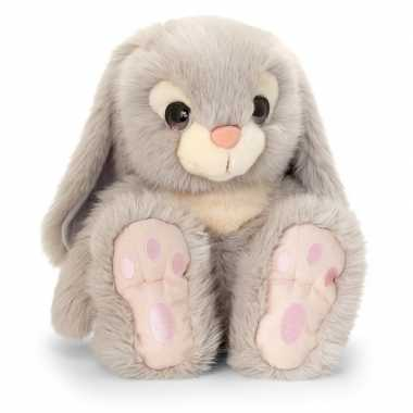 Keel toys pluche grijze konijnen knuffel 25 cm