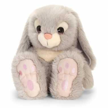 Keel toys pluche grijze konijnen knuffel 35 cm