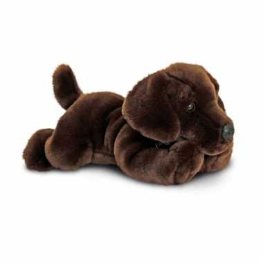 Keel toys pluche labrador hond knuffel bruin 30 cm