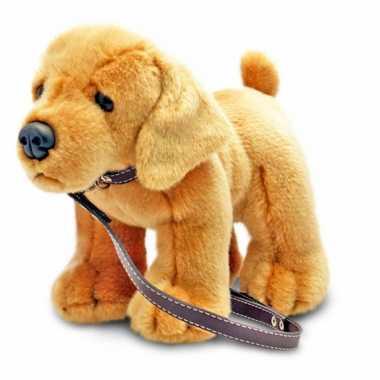 Keel toys pluche labrador knuffel aan lijn 25 cm