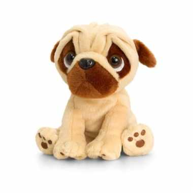 Keel toys pluche mopshond knuffel 20 cm