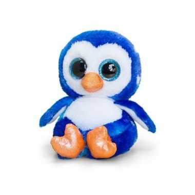 Keel toys pluche pinguin knuffel blauw/wit15 cm