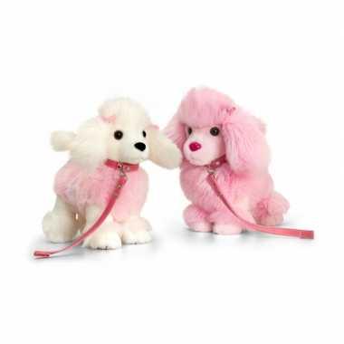 Keel toys pluche poedel knuffel roze 30 cm