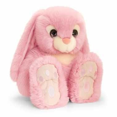 Keel toys pluche roze konijnen knuffel 35 cm