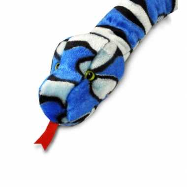 Keel toys pluche slang knuffel blauw 200 cm