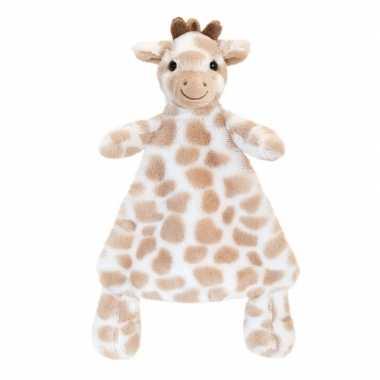 Keel toys pluche tuttel bruine giraffe knuffeldoekje 25 cm