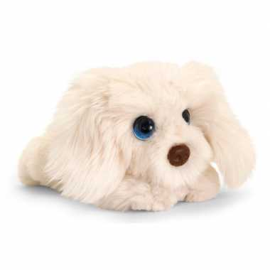 Keel toys pluche witte labradoodle honden knuffel 25 cm