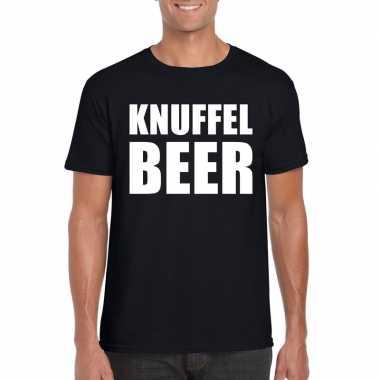 Knuffel beer tekst t shirt zwart heren