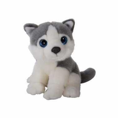 Knuffel husky hond 18 cm