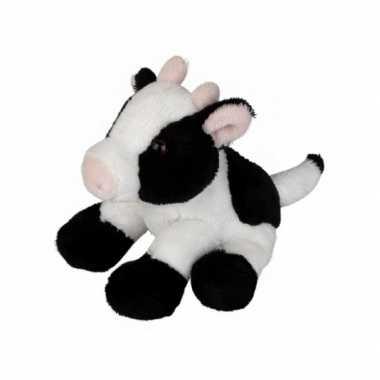 Knuffel koe zittend 15 cm