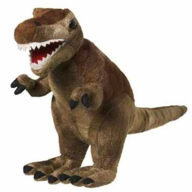 Knuffeldier/knuffelbeestje t rex dinosaurus van 20 cm