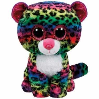 Luipaard ty beanie knuffel dotty 24 cm