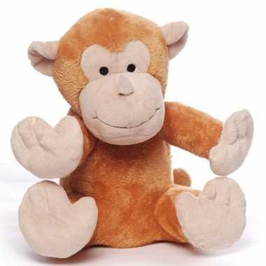 Magnetron warmte knuffel orang oetan aap bruin 20 cm
