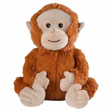 Magnetron warmte knuffel orang oetan bruin aap 33 cm