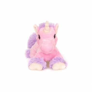 Magnetron warmte knuffel roze eenhoorn paard18 cm
