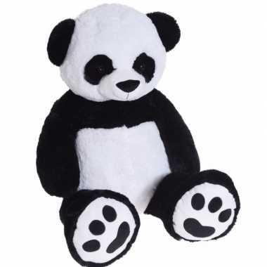 Mega grote pandabeer knuffelbeest van 100 cm