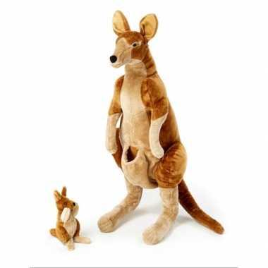 Mega kangoeroe knuffel met baby