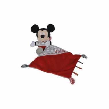 Mickey mouse knuffeldoekje rood