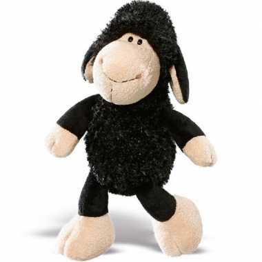 Nici pluche zwart schaap/lammetje knuffel 25 cm speelgoed