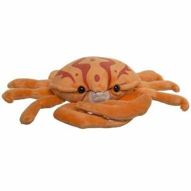 Oranje pluche krab knuffel 25 cm