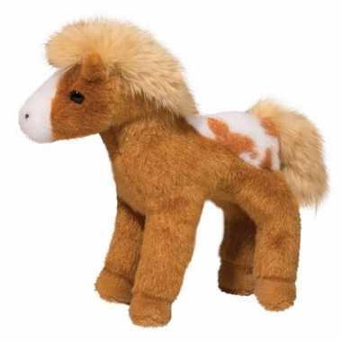 Pluche appaloosa paard knuffel lichtbruin 20 cm