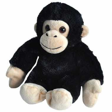 Pluche baby chimpansee aap knuffel 18 cm