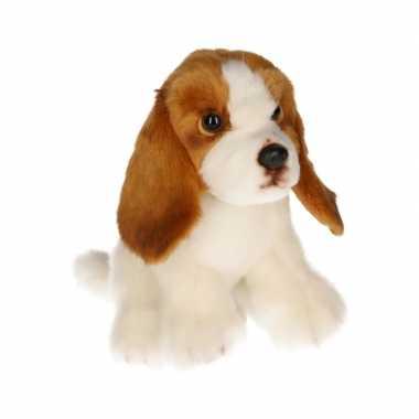 Pluche basset hond knuffel 16 cm