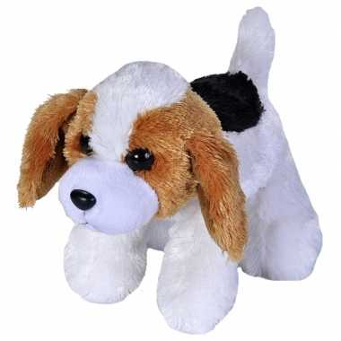 Pluche beagle honden knuffel 18 cm