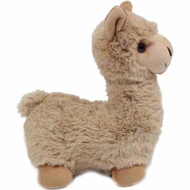 Pluche beige alpaca/lama knuffel 29 cm staand