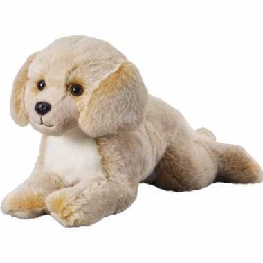 Pluche beige/blonde labrador honden knuffel 36 cm speelgoed