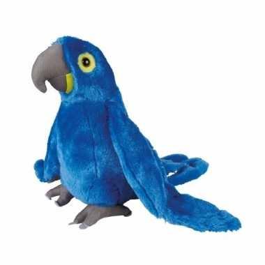 Pluche blauwe ara knuffel 30 cm
