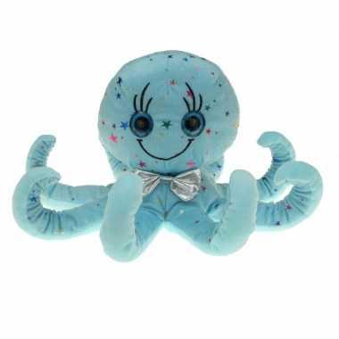 Pluche blauwe octopus inktvis knuffel 40 cm