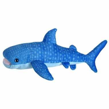 Pluche blauwe vinvis/walvis knuffel 35 cm speelgoed