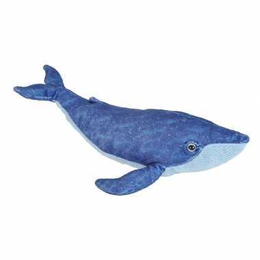 Pluche blauwe walvis knuffel 20 cm