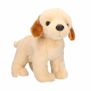 Pluche blonde labrador hond staand knuffel 20 cm speelgoed
