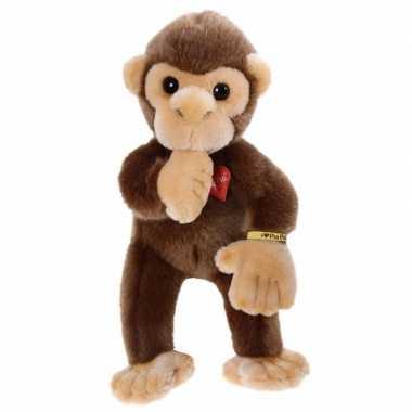 Pluche bruin baby aapje knuffel 30 cm