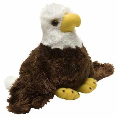 Pluche bruin/witte amerikaanse zeearend knuffel 18 cm speelgoed