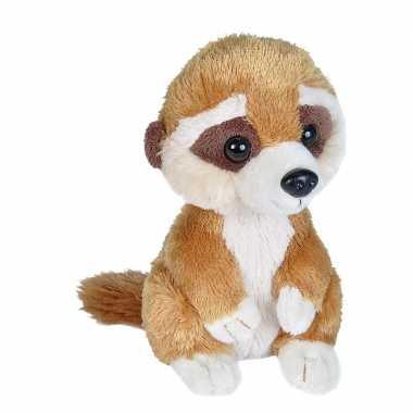 Pluche bruine baby stokstaartje knuffel 18 cm speelgoed