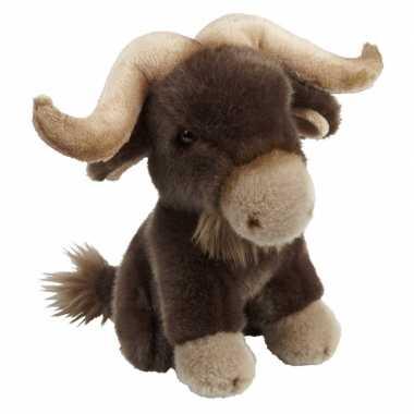 Pluche bruine bizon knuffel 18 cm speelgoed