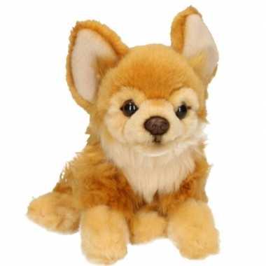Pluche bruine chihuahua hond knuffel 17 cm
