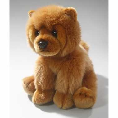 Pluche bruine chowchow hond/honden knuffel 25 cm speelgoed